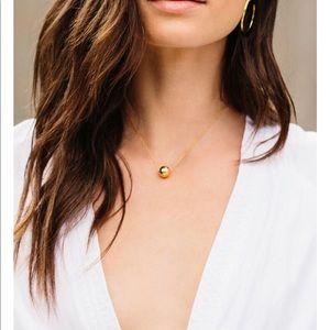 Gorjana ball necklace. Lifetime warranty